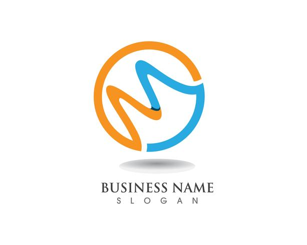 M Logo Business Template Vector icon