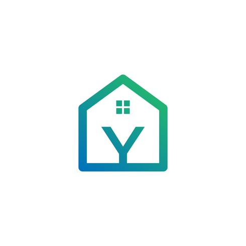 letter y architect, home, construction creative logo template