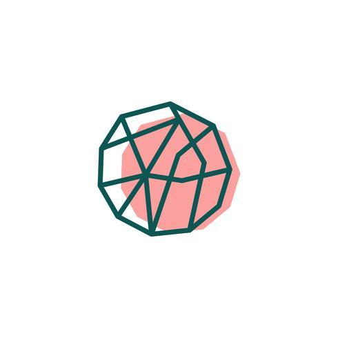 pietra, diamante, modello logo gemma, icona elementi isolati