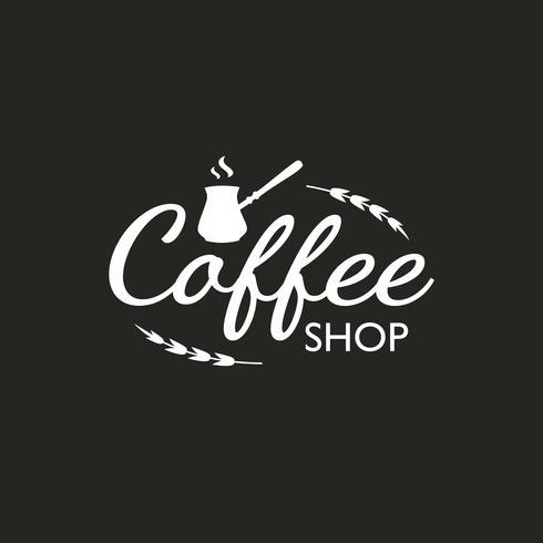 Vintage Coffee logotyp mall, emblem och designelement. Logotyp för kafé, café, restaurang. Vektor illustration. Hipster och retro stil.