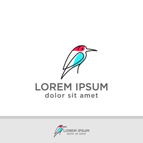 Uccelli, colomba, piccione, logo modello illustrazione vettoriale