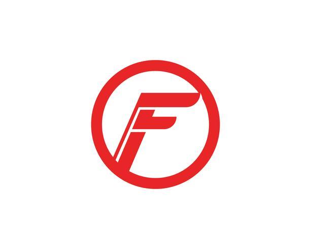 F-logotyp och symboler mall vektorikoner vektor