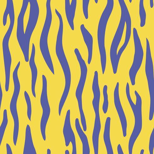 Cópia animal colorida abstrata. Padrão de vetor sem costura com listras de tigre. Matéria têxtil que repete o fundo animal da pele.