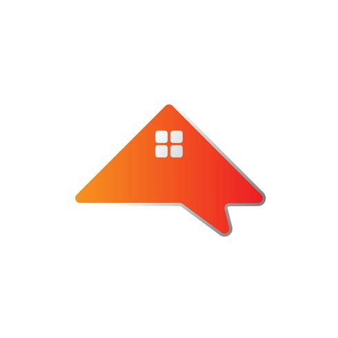 maison d'architecte, forum, consultant, modèle de logo créatif message
