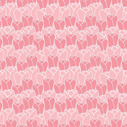 Floral pattern with tulips.Vector floral pattern.Seamless floral background. vector