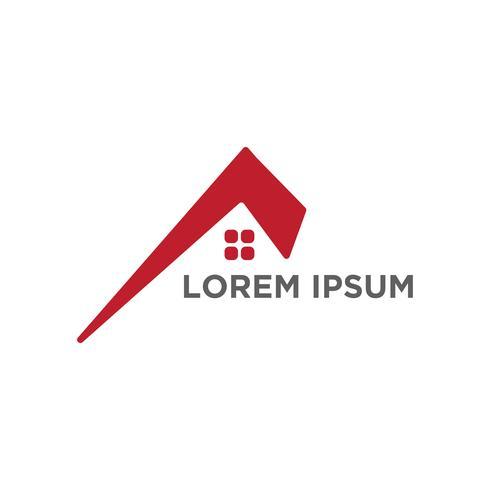 Architekt, Haus, kreativer Logo-Schablonenvektor des Baus