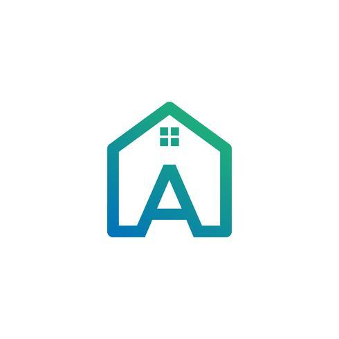 lettre un architecte, maison, modèle de logo créatif de construction