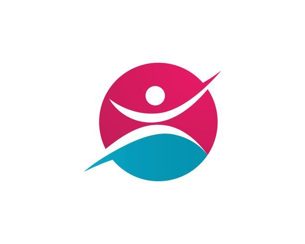 gente éxito salud vida logotipo plantilla iconos vector