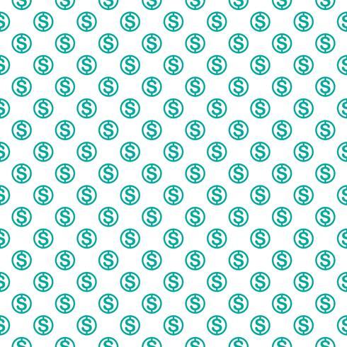 Naadloos patroon met dollarteken. Herhalende valutasymboolachtergrond voor textielontwerp, verpakkend document, scrapbooking enz.