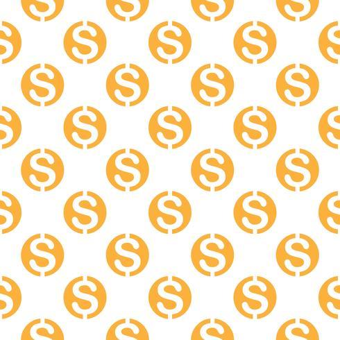 Padrão sem emenda com cifrão. Repetindo o fundo do símbolo de moeda para design têxtil, papel de embrulho, scrapbooking etc.
