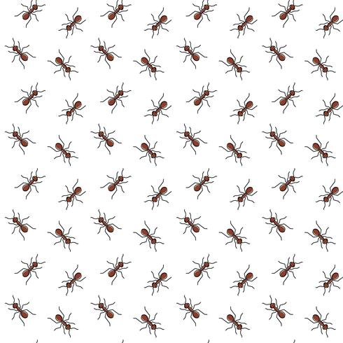 Ants vector seamless pattern for textile design, wallpaper, wrapping paper