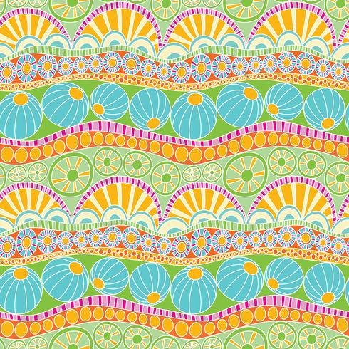 Abstract colorful doodle pattern. Hand drawn doodle seamless pattern for textile vector