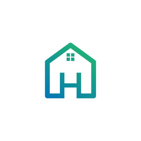 letter h architect, home, construction creative logo template