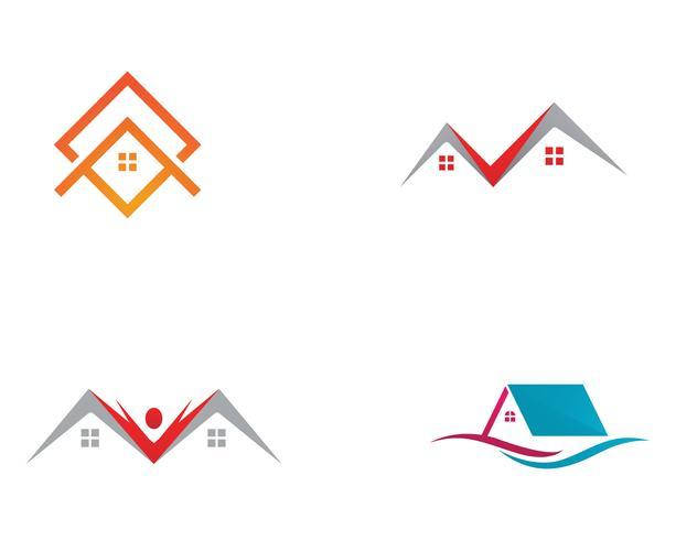 Hemlogo och symboler vektor