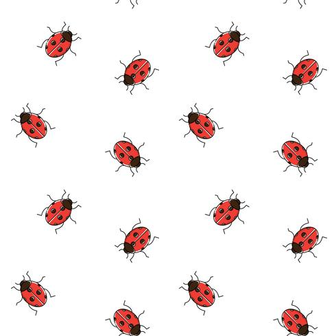 Ladybug seamless pattern. Ladybird repeating background for wallpaper, wrapping
