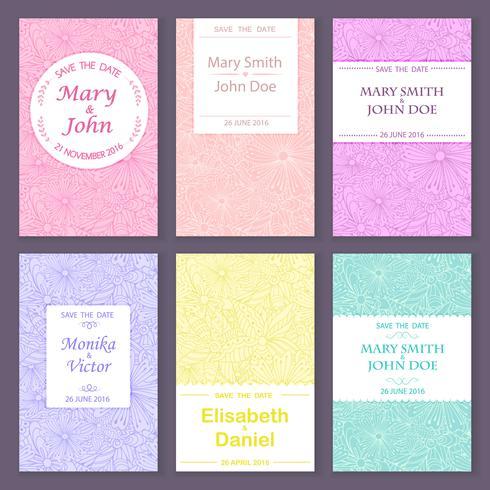 Set di saluto, modelli di carte di invito.