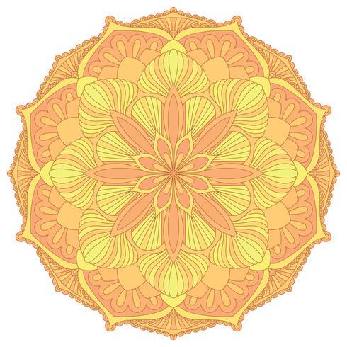Mandala Elemento decorativo oriental.Islam, árabe, indio, motivos otomanos. vector