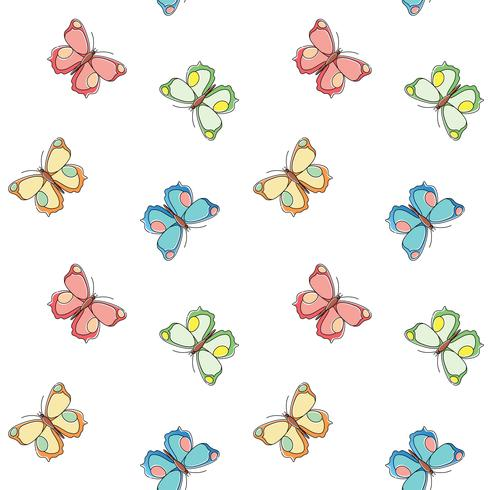 Butterfly seamless pattern. Repeating butterfly background for textile design, wrapping paper, wallpaper, scrapbooking.