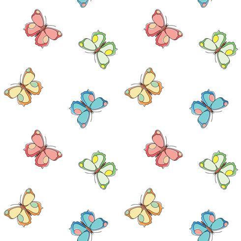 Schmetterling nahtlose Muster. Wiederholen des Schmetterlingshintergrundes für Textildesign, Packpapier, Tapete, Scrapbooking.