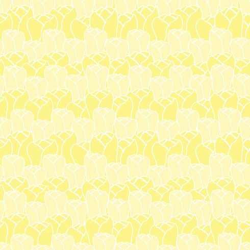 Floral pattern with tulips.Vector floral pattern.Seamless floral background.