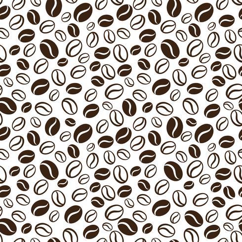 Modelo inconsútil del vector con los granos de café del handrawn. Repetir el fondo de los granos de café para el papel de embalaje, paquete, scrapbooking, diseño textil.