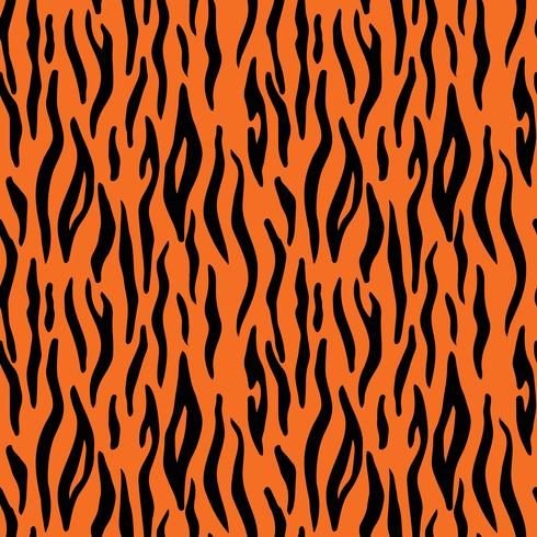 Abstrait animal imprimé. Modèle vectorielle continue avec des rayures de tigre. Textile répétant fond de fourrure de tigre vecteur