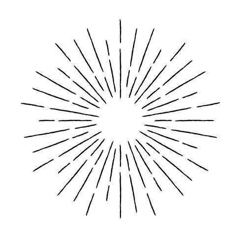 Illustrazione di raggi texture vintage. Elemento di design lineare sunburst in stile retrò. vettore