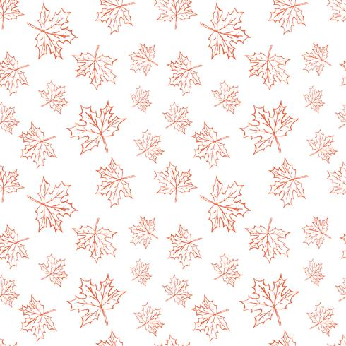 Seamless vector pattern with autumn leaves. Halloween repeating autumn leaves background for textile print, wrapping paper or scrapbooking.