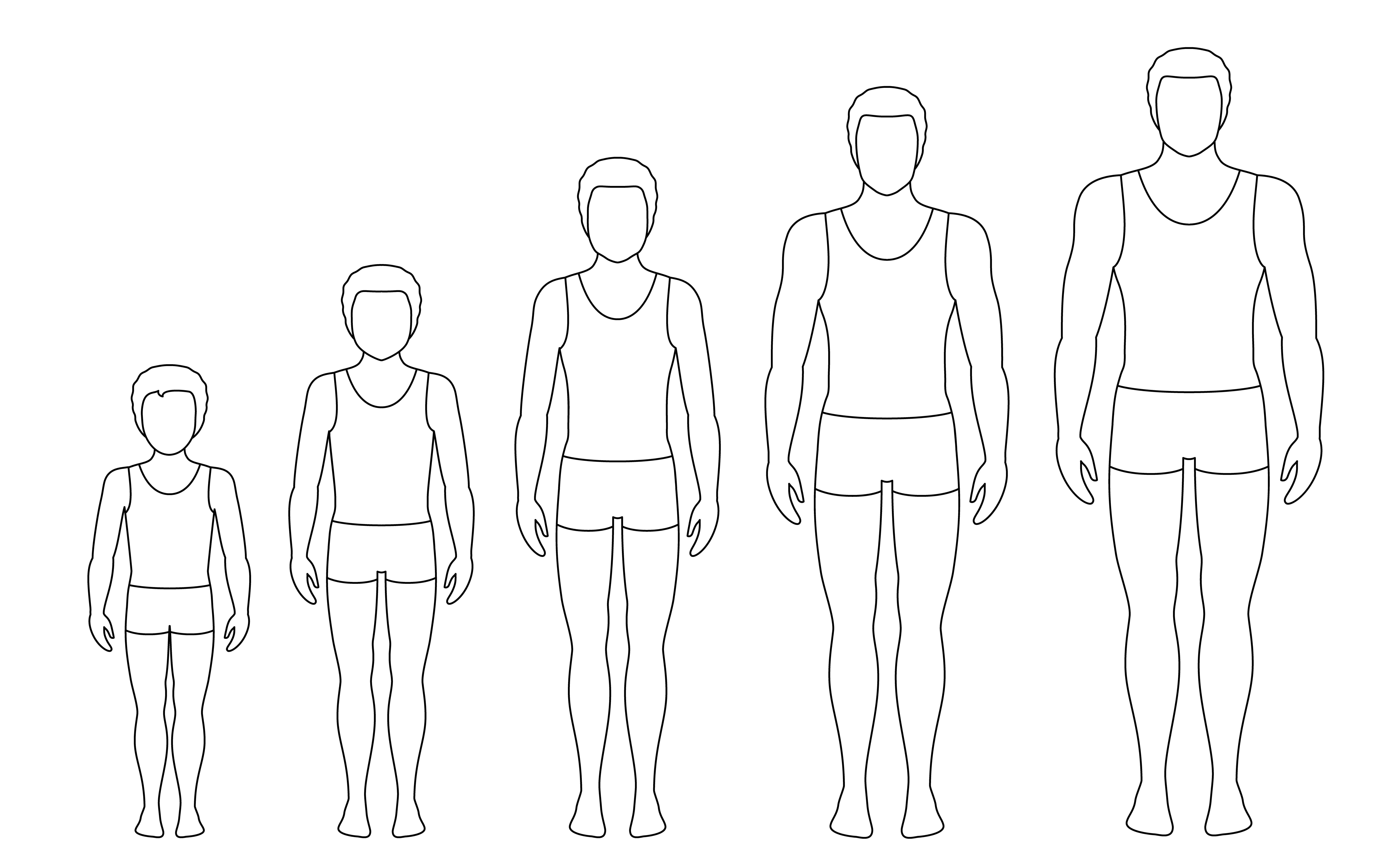 Man S Body Proportions Changing With Age Boy S Body Growth Stages Vector Contour Illustration Aging Concept Illustration With Different Man S Age From Baby To Adult European Men Flat Style Download Free Vectors