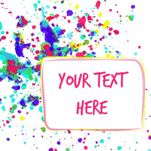 Colorful watercolor background for greeting card with space for your text. vector
