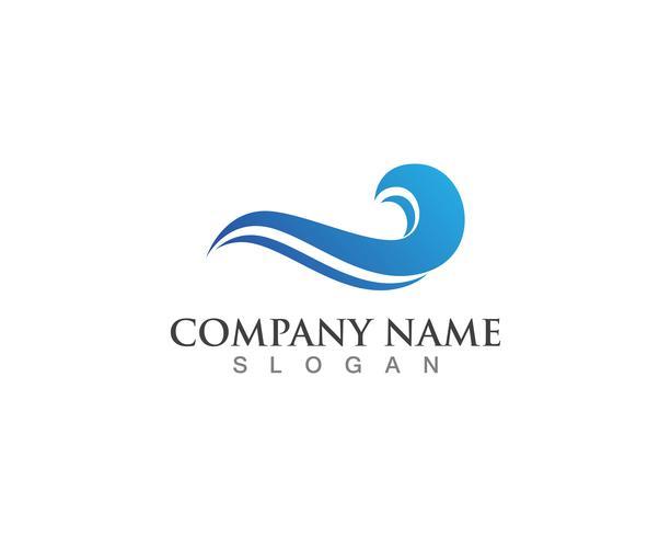 Plantilla de vector de logotipo de onda