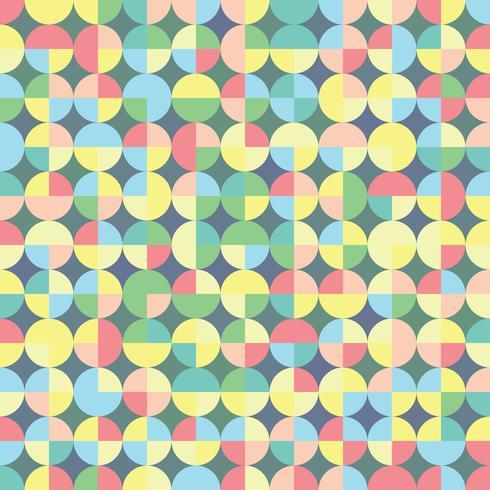 Sem costura padrão geométrico em estilo retro. Vector repetindo fundo com formas geométricas para o design têxtil, papel de embrulho, scrapbooking.