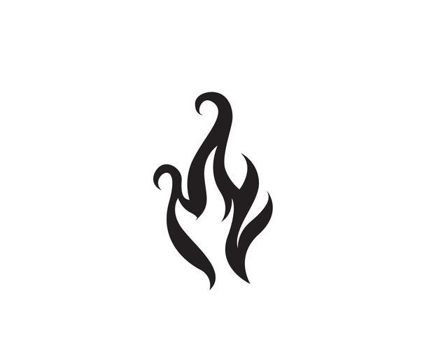 Progettazione dell'illustrazione di vettore della fiamma del fuoco