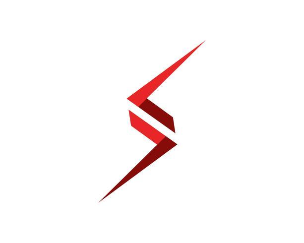 S logo e simboli template vettoriale