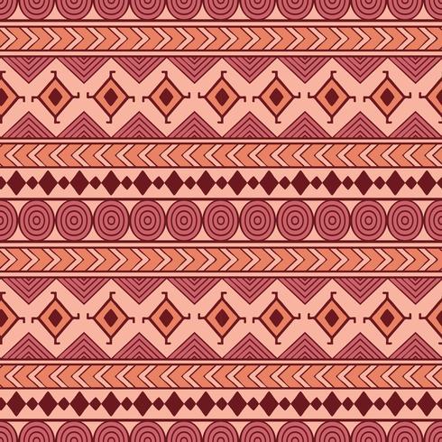 Stammen naadloos vectorpatroon. Etnische abstracte geometrische achtergrond. Reapiting ornament in ethno-stijl voor behang, inpakpapier, scrapbooking of textielontwerp. vector