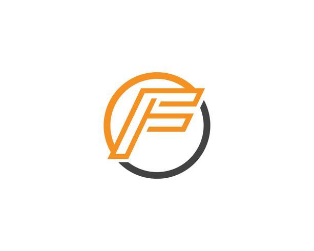 Logotipo de F e vetor de modelo de símbolos