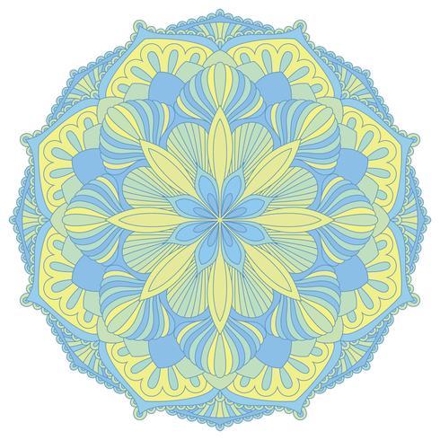 Mandala. Orientaliskt dekorativt element. Islam, arabiska, indiska, osmanska motiv. vektor
