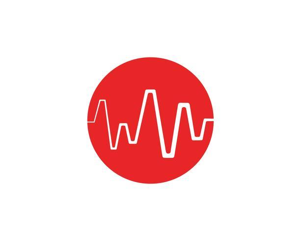 Art design hälso-medicinsk hjärtslagpuls