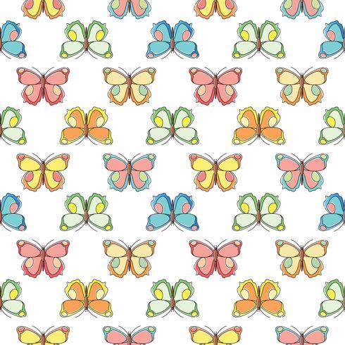 Mariposa de patrones sin fisuras. Repetición de fondo de mariposa para el diseño textil, papel de regalo, papel tapiz, scrapbooking.