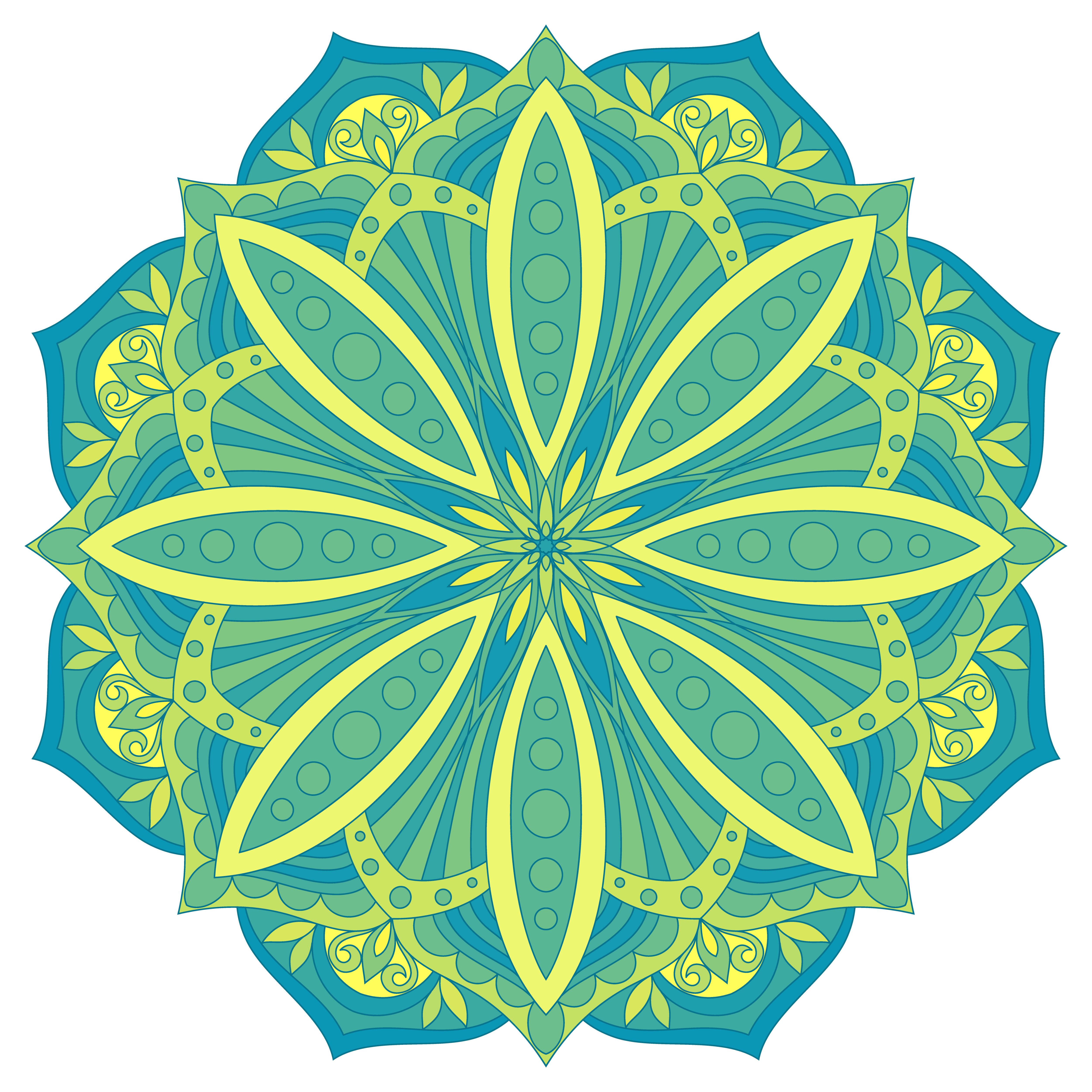 Abstract Round Logos: Ethnic Decorative Design Element. Colorful Vector Mandala