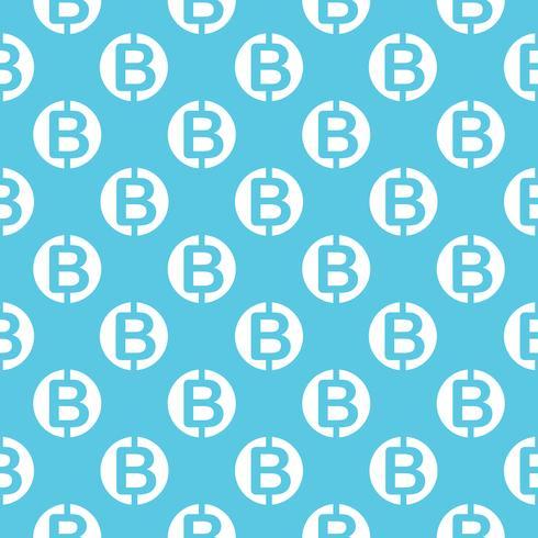 Vector naadloos patroon met bitcoins. Cryptocurrency herhalende achtergrond.