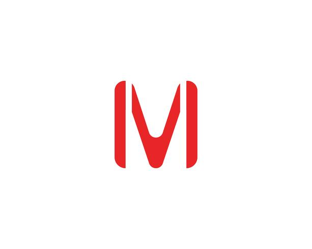 m logo empresarial plantilla vector icono