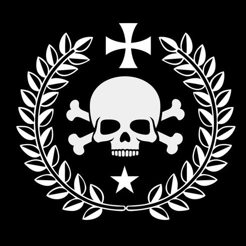 militair embleem met schedel,