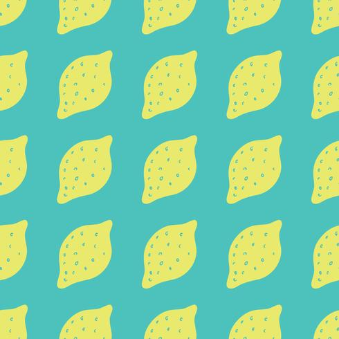 Seamless background with lemons. Lemons repeating pattern for textile design. vector