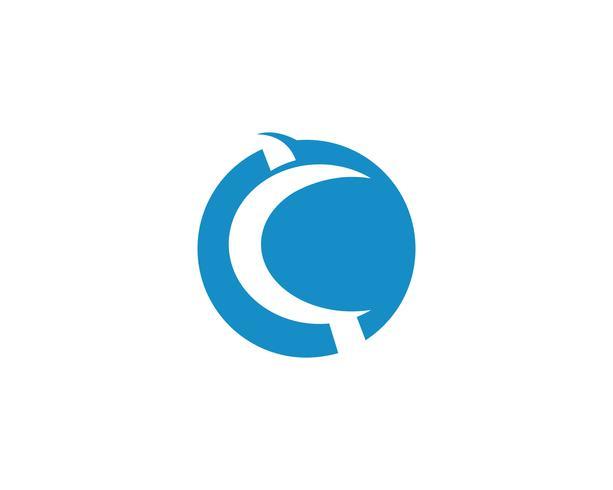 c logo sjabloon ontwerp vectoren