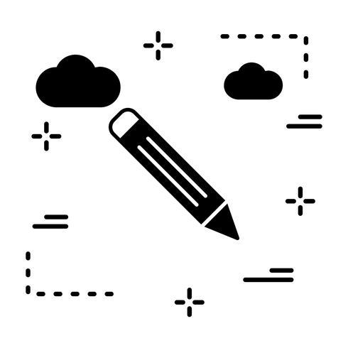 Vector potloodpictogram