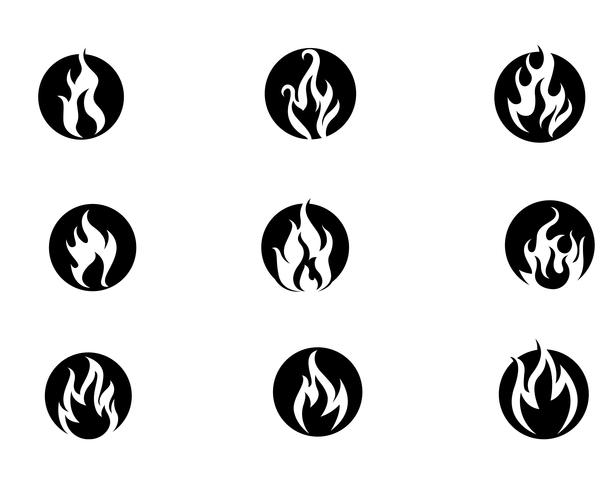 Brand flamma vektor illustration design