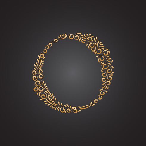 Letra Ornamental De Oro Floral O