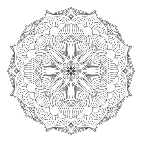 Vector Mandala. Oriental decorative element.