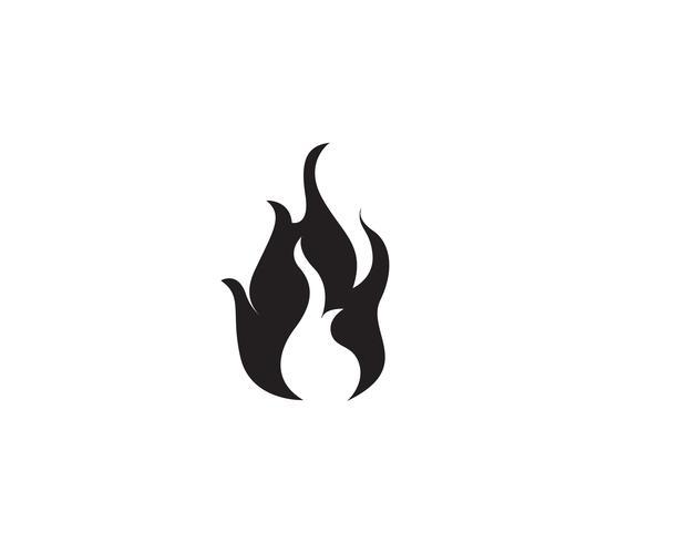 Projeto de ilustração vetorial de chama de fogo